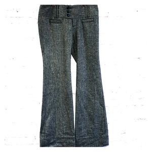 Tweed Free people wool blend wide leg pants